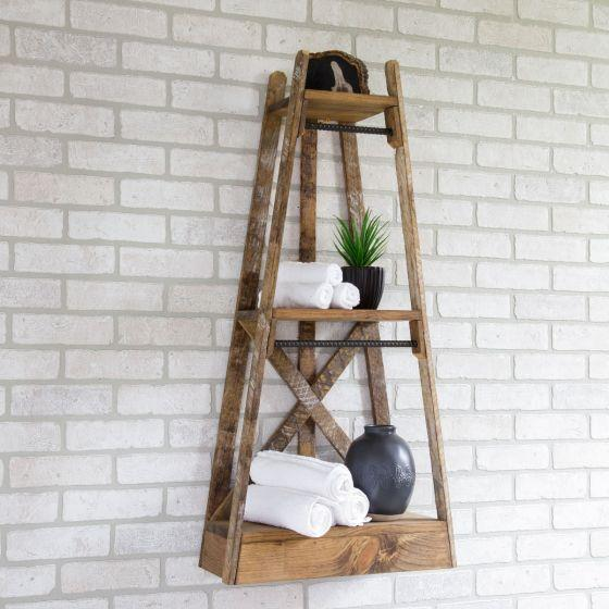 Magnolia - Three Tier Rustic Shelves