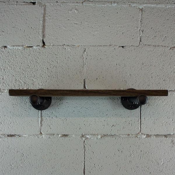 Industrial Vintage Wood Finish Wall Mounted Shelf