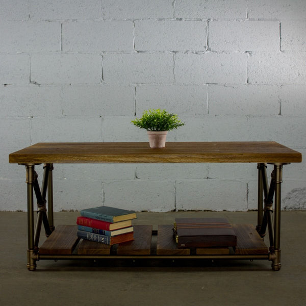 Modern Rectangular Two Tier Center Piece Table