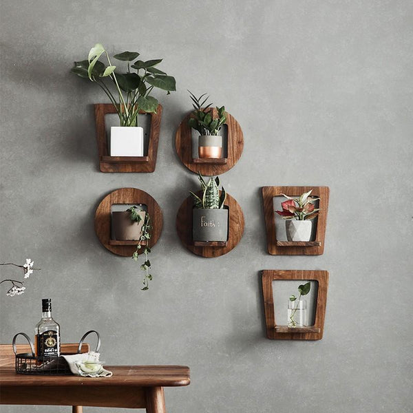 Sebastian - Wood Wall Planter