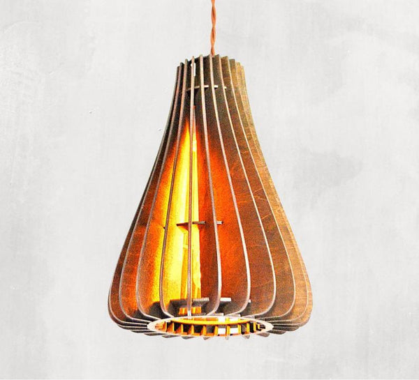 Handmade Wood Pendant Lamps