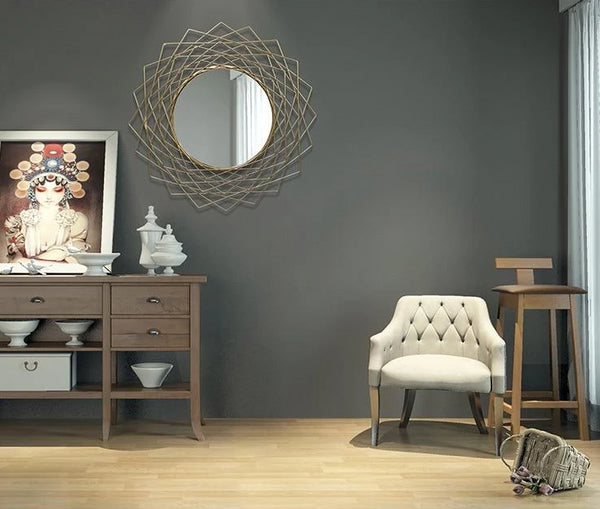 Aquila - Art Deco Iron Frame Mirror
