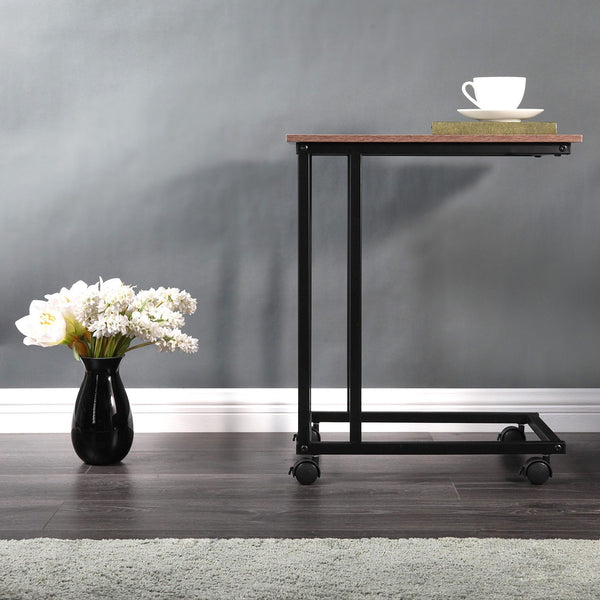 Elettra - 4 Wheeled Portable Metal Framed Coffee Table