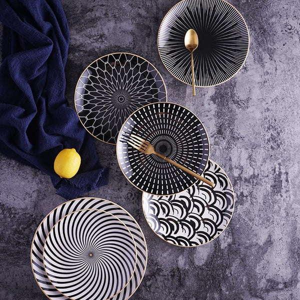 Geometric Ceramic Porcelain Plate