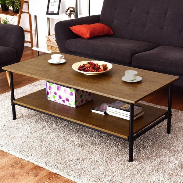 Tingo - Rectangle Bottom Shelf Wood Coffee Table