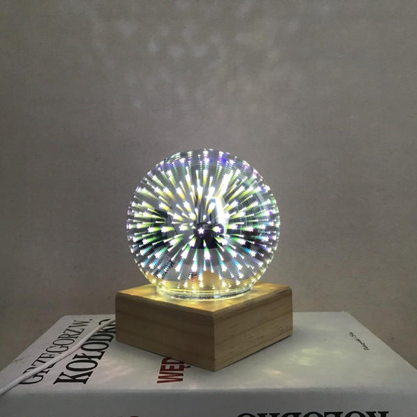 Modern Art-Deco Crystal Ball Night Light