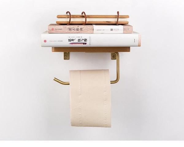 Bentlee - Modern Toilet Paper Roll Holder Shelf