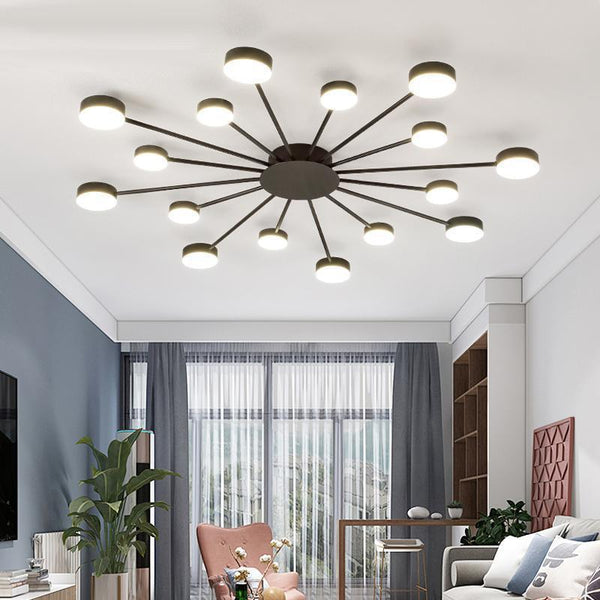 Drexel - Irregular Spoke Round Ceiling Light