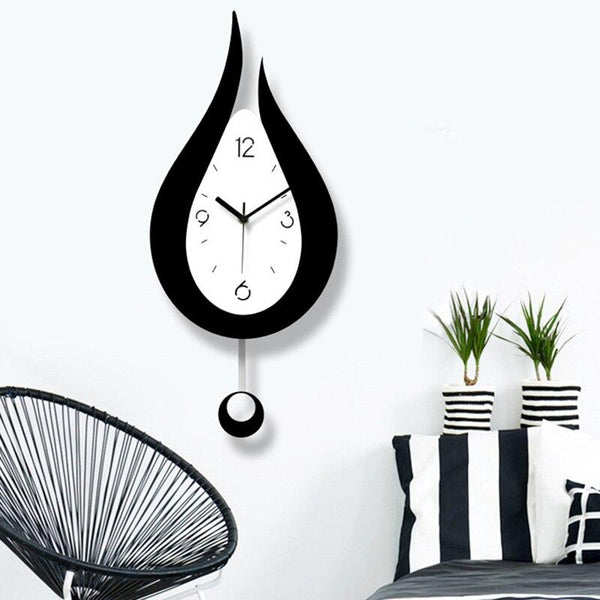 Lyon - Modern Nordic Water Droplet Design Wall Clock