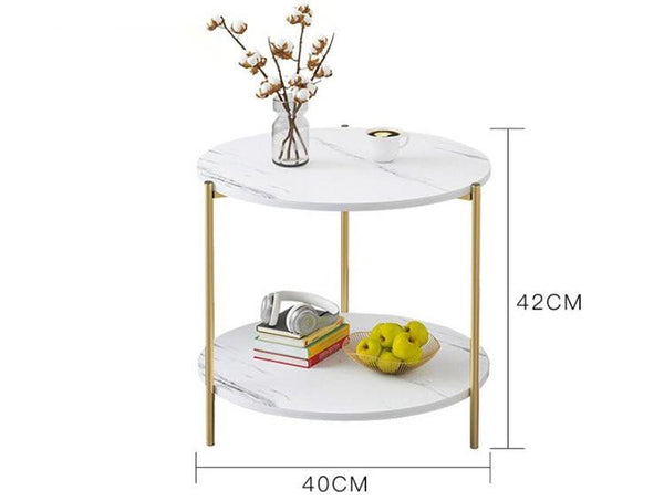Adeline - Vintage Style Two-Layer Wooden Coffee Table