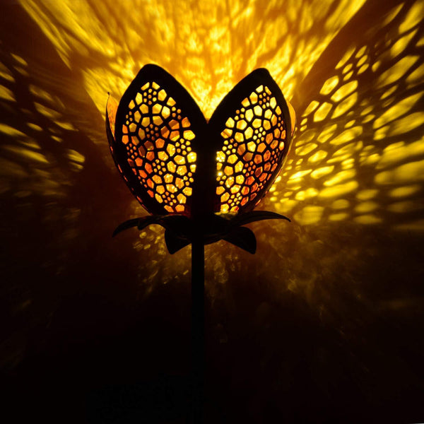 Solar Powered Flower Stake Garden Light