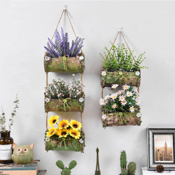 Moss - Vertical Hanging Bark Planter