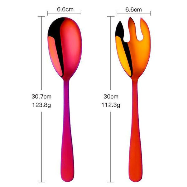 Ivah - Large Serving Spoon & Fork