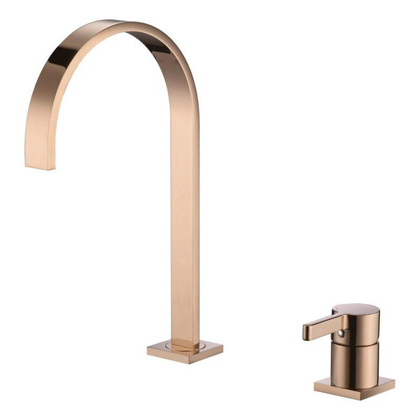 Raffo - Long Tube Two Hole Bathroom Sink Faucet