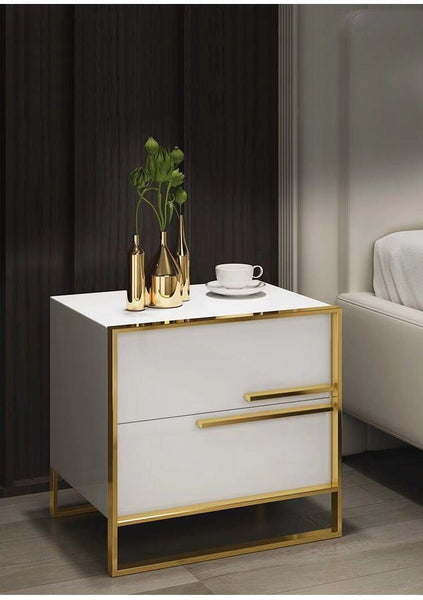 Orly - Two Drawer Modern Nightstand