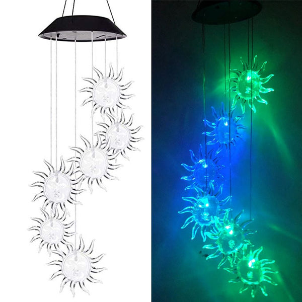 LED Solar Powered Wind Chime Lights