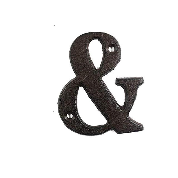 Iron Plate Letter & Number Decor