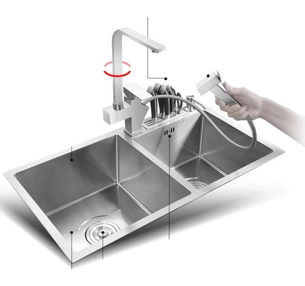 Vertigo - Stainless Steel Double Kitchen Sink