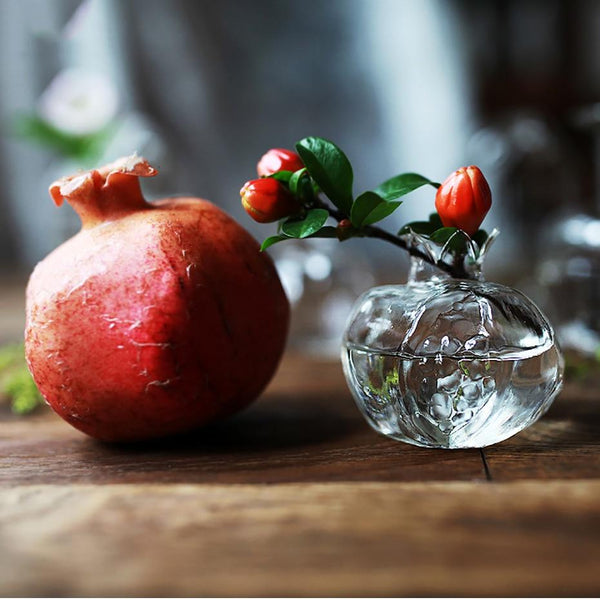 Pomegranate Glass Vase
