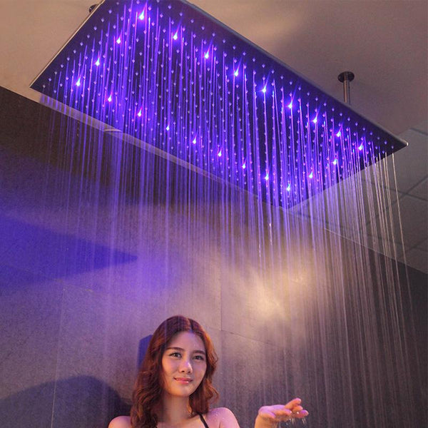 Massimo - Luxury LED Rainfall Ceiling Shower Head