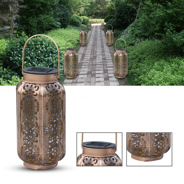 Soraya - LED Solar Powered Outdoor Moroccan Lamp