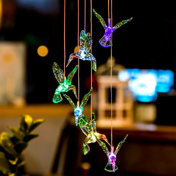 Hummingbird LED Wind Chime