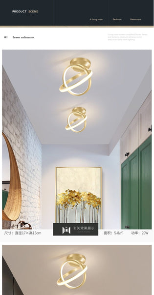 Lalit - Multi Disc Ceiling Light