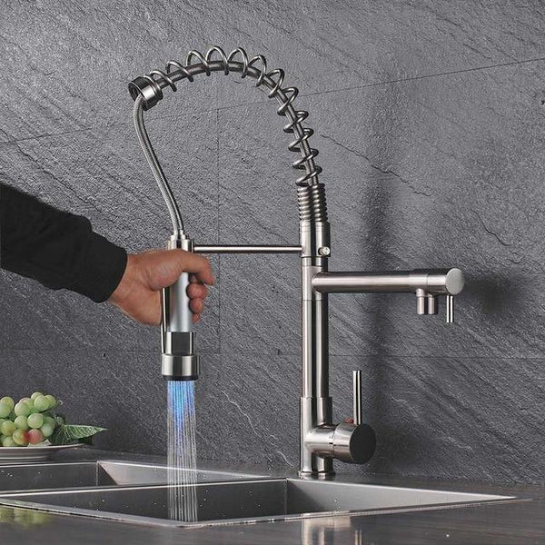 Carylon - LED Kitchen Spring Deck Mounted Faucet