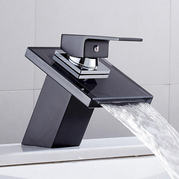 Belva - Solid Glass Bathroom Mixer Faucet
