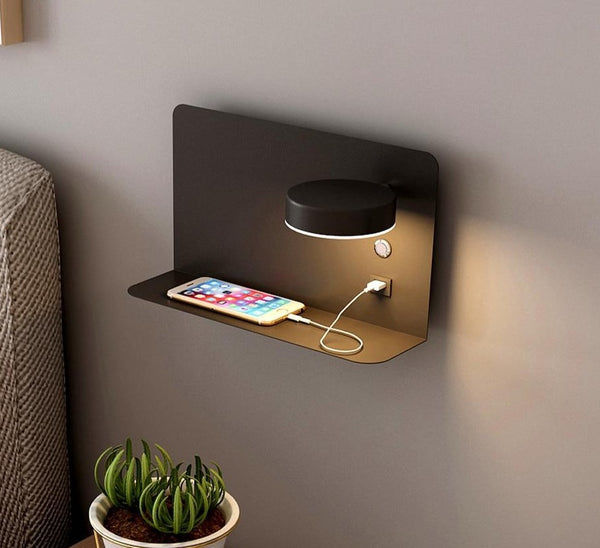 Rowan - LED Bedside Wall Lamp USB Charger
