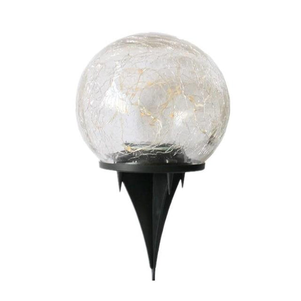 Cracked Glass Ball Solar Garden Light