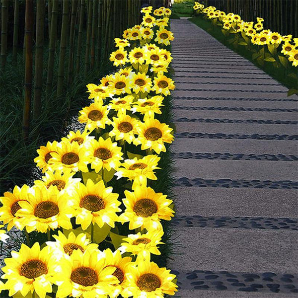 2 LED Sunflower Garden Lights