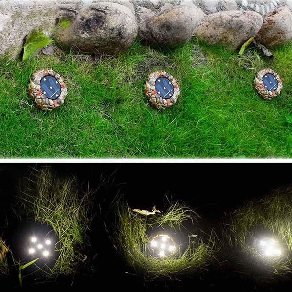 Cobblestone Solar LED Light