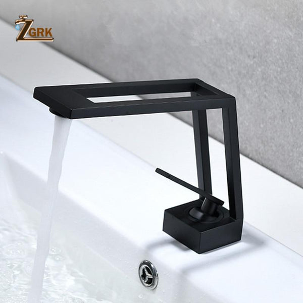 Clifton - Black Modern Hollowed Basin Faucet