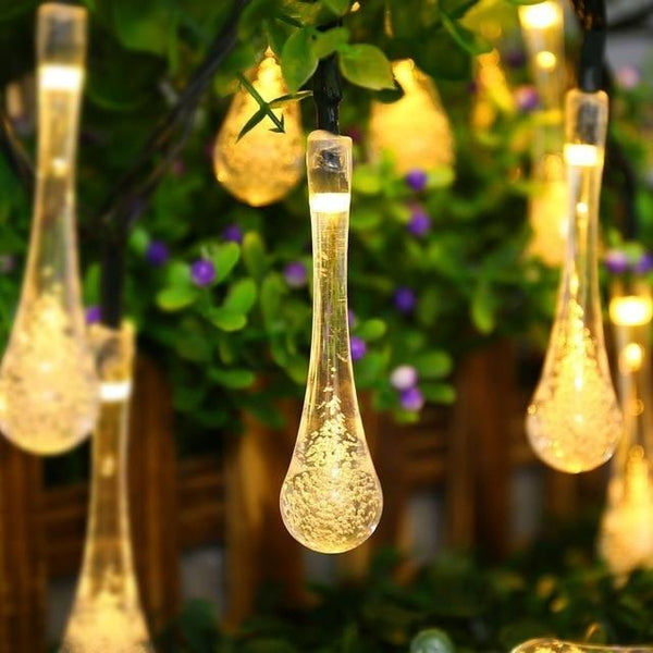 Solar Droplet Bulb String Light