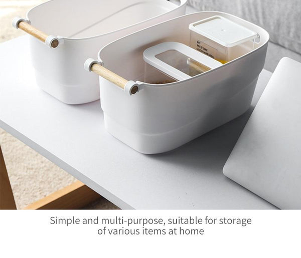 Multifunctional Wood Handle Storage Box