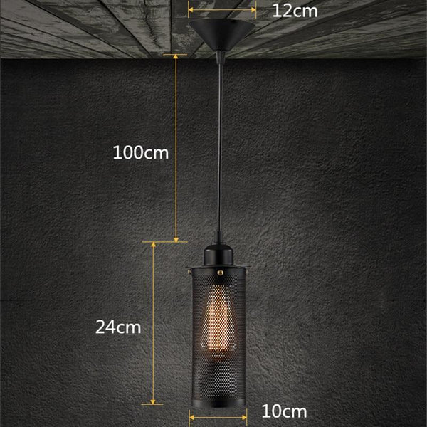 Caius - Vintage Industrial Hanging Pendant Lamp