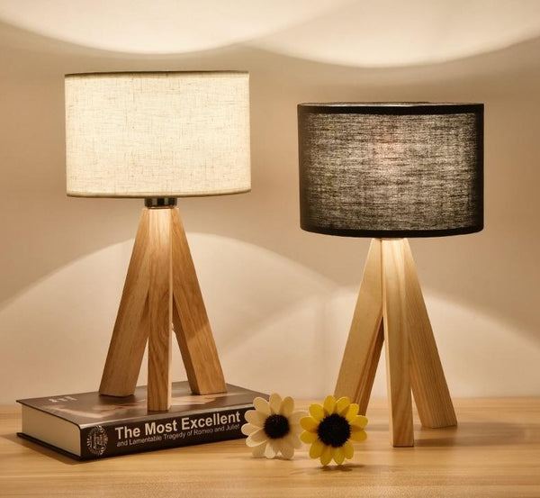 Lizbeth - Three Leg Wooden Base Lamp