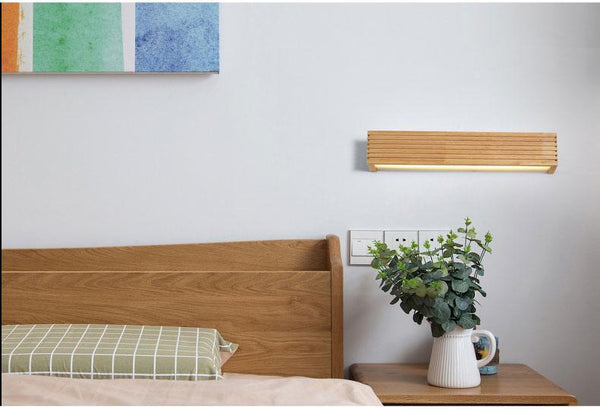Statuto - Modern Nordic Wooden Wall Lamp