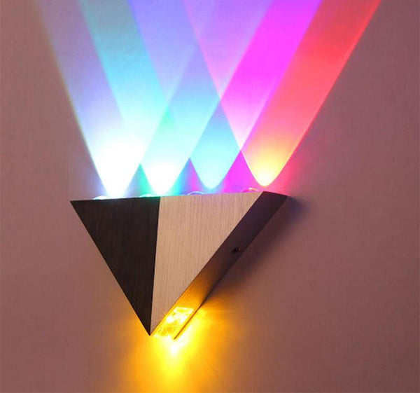 Modern Led Triangle Wall Lamp Warmly