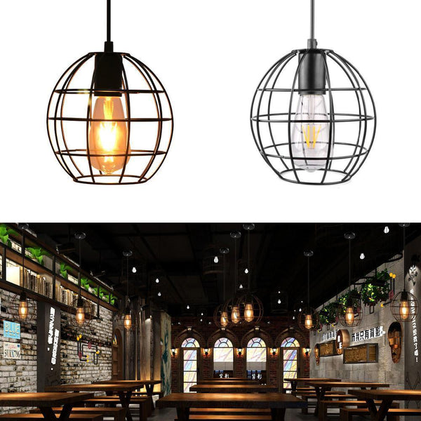 Spherical Cage Hanging Drop Light Ceiling Light