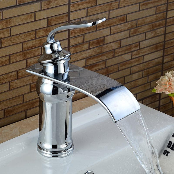 Ames - Vintage Brass Waterfall Faucet