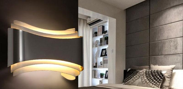 Modern LED Curved Wall Lamp