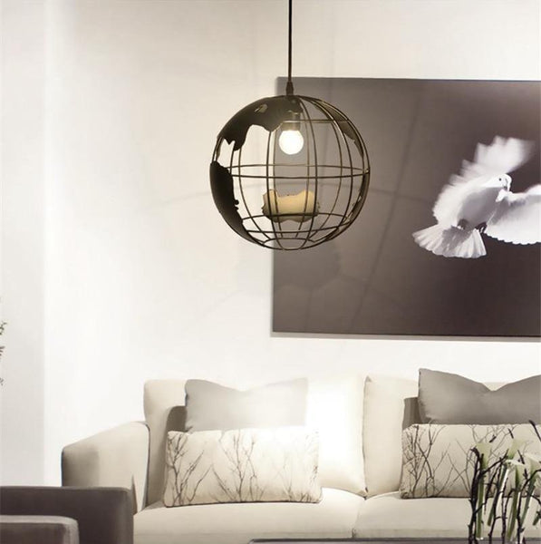 Modern Nordic World Globe Hanging Light