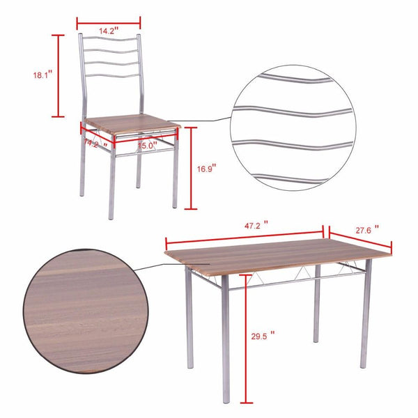 Kraam - Five Piece Modern Country Dining Set