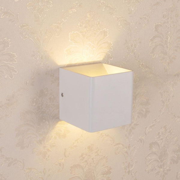 Modern LED Up Down Cube Wall Lamp
