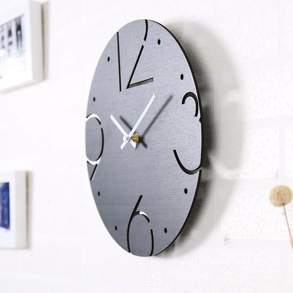 Perry - Number Hollow Out Wooden Clock