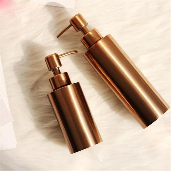 Clang - Rose Gold Toiletries Pump Bottles