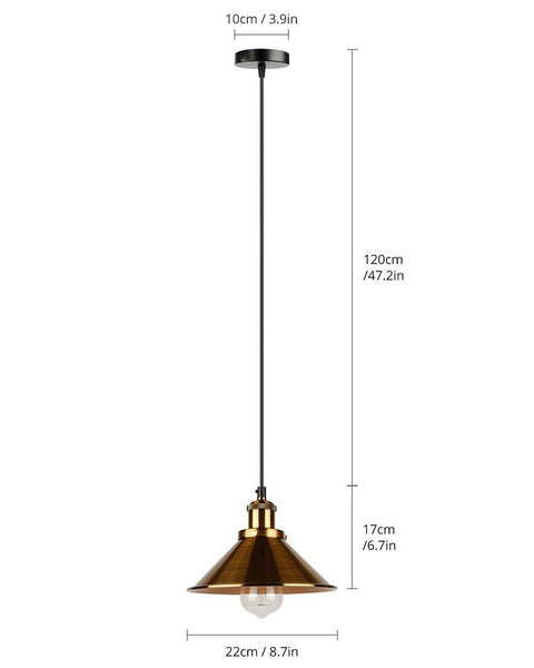 Pius - Modern Shade Hanging Lamp
