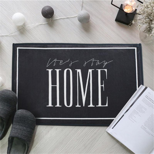 Let's Stay Home Welcome Mat